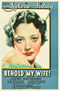 """Movie Posters:Drama, Behold My Wife (Paramount, 1934). One Sheet (27"""" X 41"""") Style A.. ..."""