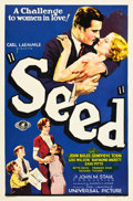 "Movie Posters:Drama, Seed (Universal, 1931). One Sheet (27"" X 41"") Blue Style.. ..."