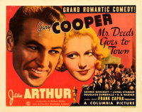 """Mr. Deeds Goes to Town (Columbia, 1936). Half Sheet (22"""" X 28"""") Style B"""