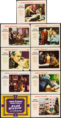 "Movie Posters:Hitchcock, Rear Window (Paramount, 1954). Lobby Card Set of 8 (11"" X 14"")..... (Total: 9 Items)"