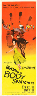 """Invasion of the Body Snatchers (Allied Artists, 1956). Insert (14"""" X 36""""). From the collection of Wade William..."""
