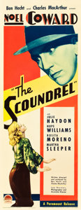 "Movie Posters:Drama, The Scoundrel (Paramount, 1935). Insert (14"" X 36"").. ..."