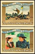 "Movie Posters:Western, They Died with Their Boots On (Warner Brothers, 1941). One Autographed Lobby Card and Lobby Card (11"" X 14"").. ... (Total: 2 Items)"