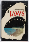 Books:Fiction, Peter Benchley. SIGNED BY CARL GOTTLIEB. Jaws. AndreDeutsch, 1974. First British edition, first printing. Signed ...