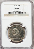 Proof Seated Half Dollars: , 1877 50C PR61 NGC. NGC Census: (8/121). PCGS Population (8/115).Mintage: 510. Numismedia Wsl. Price for problem free NGC/P...