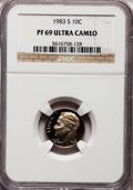 Proof Roosevelt Dimes: , 1983-S 10C PR69 Ultra Cameo NGC. NGC Census: (537/162). PCGSPopulation (2888/159). Numismedia Wsl. Price for problem free...