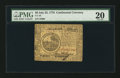 Colonial Notes:Continental Congress Issues, Continental Currency July 22, 1776 $6 PMG Very Fine 20.. ...