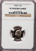 Proof Roosevelt Dimes: , 1983-S 10C PR70 Ultra Cameo NGC. NGC Census: (162). PCGS Population(159). Numismedia Wsl. Price for problem free NGC/PCGS...