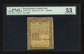 Colonial Notes:Pennsylvania, Pennsylvania October 25, 1775 1s PMG About Uncirculated 53.. ...