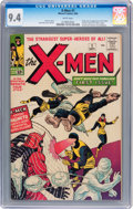 Silver Age (1956-1969):Superhero, X-Men #1 (Marvel, 1963) CGC NM 9.4 White pages....