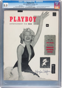 Playboy #1 Unique Page 3 Copy Signed by Hugh Hefner (HMH Publishing, 1953) CGC VF 8.0 Off-white to white pages