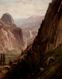 WILLIAM KEITH (American, 1839-1911) Yosemite Oil on canvas 34-1/2 x 27 inches (87.6 x 68.6 cm)