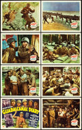"Movie Posters:War, Guadalcanal Diary (20th Century Fox, 1943). Lobby Card Set of 8(11"" X 14"").. ... (Total: 8 Items)"