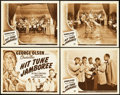 "Movie Posters:Musical, Hit Tune Jamboree (Universal, 1943). Lobby Card Set of 4 (11"" X14"").. ... (Total: 5 Items)"