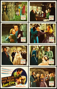 "Jane Eyre (20th Century Fox, 1944). Lobby Card Set of 8 (11"" X 14""). ... (Total: 9 Items)"