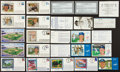 Autographs:Index Cards, Baseball Greats Signed Cachet Collection Lot Of 18 (11 Signed)....