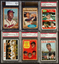 Baseball Cards:Lots, 1962-65 Topps Baseball HoFers, Leaders and WS Graded Collection(6). ...