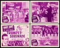 "Movie Posters:Short Subject, Trumpet Serenade (Universal, 1942). Lobby Card Set of 4 (11"" X14"").. ... (Total: 5 Items)"