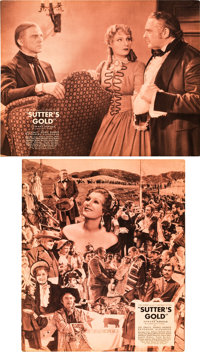 """Sutter's Gold (Universal, 1936). Jumbo Lobby Card Set of 8 (14"""" X 17""""). ... (Total: 8 Items)"""