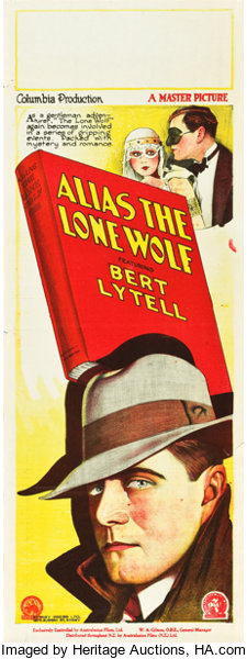 Movie PostersMystery Alias the Lone Wolf Columbia 1927 Pre-War Australian Daybill15 X 40