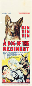"Movie Posters:Drama, A Dog of the Regiment (Warner Brothers, 1927). Pre-War AustralianDaybill (15"" X 40"").. ..."