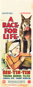 "Movie Posters:Adventure, A Race for Life (Warner Brothers, 1928). Pre-War Australian Daybill(15"" X 40"").. ..."