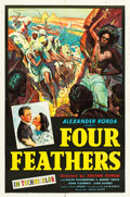 "Movie Posters:Action, Four Feathers (United Artists, 1939). One Sheet (27"" X 41"").. ..."