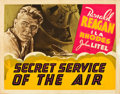"Movie Posters:Action, Secret Service of the Air (Warner Brothers, 1938). Other Company Half Sheet (22"" X 28"").. ..."