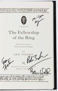 Books:Science Fiction & Fantasy, J. R. R. Tolkien. CAST SIGNED. The Fellowship of the Ring. Houghton Mifflin, 2001. Later edition, first printing. ...