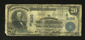 National Bank Notes:Kentucky, Paintsville, KY - $20 1902 Plain Back Fr. 650 The Paintsville NBCh. # (S)6100. The signatures remain dark on this well ...