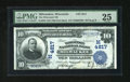 National Bank Notes:Wisconsin, Milwaukee, WI - $10 1902 Date Back Fr. 620 The Wisconsin NB Ch. #(M)4817. Bright paper and printed signatures are trait...