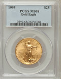 Modern Bullion Coins: , 1995 G$25 Half-Ounce Gold Eagle MS68 PCGS PCGS Population(129/450). NGC Census: (190/1737). Mintage: 53,474. NumismediaWs...