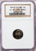 Proof Roosevelt Dimes: , 1999-S 10C Silver PR69 Ultra Cameo NGC. NGC Census: (2829/535).PCGS Population (3137/178). Numismedia Wsl. Price for prob...
