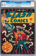 Golden Age (1938-1955):Superhero, Flash Comics #30 (DC, 1942) CGC FN+ 6.5 Off-white to white pages....