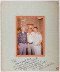 Autographs:Celebrities, Ernie Stautner (1925-2006, American Football Player and Coach).Photograph with Inscribed Mat to Ted Gunderson, Former Head of...