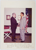 Autographs:Statesmen, Clarence M. Kelley (1911-1997, 9th Director of the Federal Bureauof Investigation). Photograph Mounted to Signed and Inscribe...