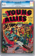 Golden Age (1938-1955):Superhero, Young Allies Comics #2 (Timely, 1941) CGC VG+ 4.5 Cream to off-white pages....