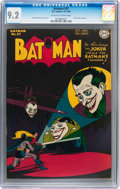 Golden Age (1938-1955):Superhero, Batman #37 (DC, 1946) CGC NM- 9.2 Off-white to white pages....