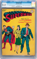 Golden Age (1938-1955):Superhero, Superman #30 (DC, 1944) CGC VF 8.0 Off-white to white pages....