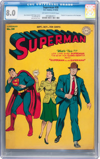 Superman #30 (DC, 1944) CGC VF 8.0 Off-white to white pages