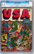 Golden Age (1938-1955):Superhero, USA Comics #5 (Timely, 1942) CGC FN+ 6.5 Cream to off-white pages....
