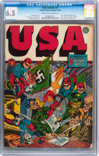 USA Comics #5 (Timely, 1942) CGC FN+ 6.5 Cream to off-white pages