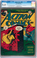 Golden Age (1938-1955):Superhero, Action Comics #47 (DC, 1942) CGC VG 4.0 Cream to off-white pages....