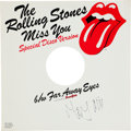 "Music Memorabilia:Autographs and Signed Items, Rolling Stones Related - Mick Jagger Signed ""Miss You"" / ""Far AwayEyes"" 12"" Disco Single (Rolling Stones Records DK4609, 1978..."