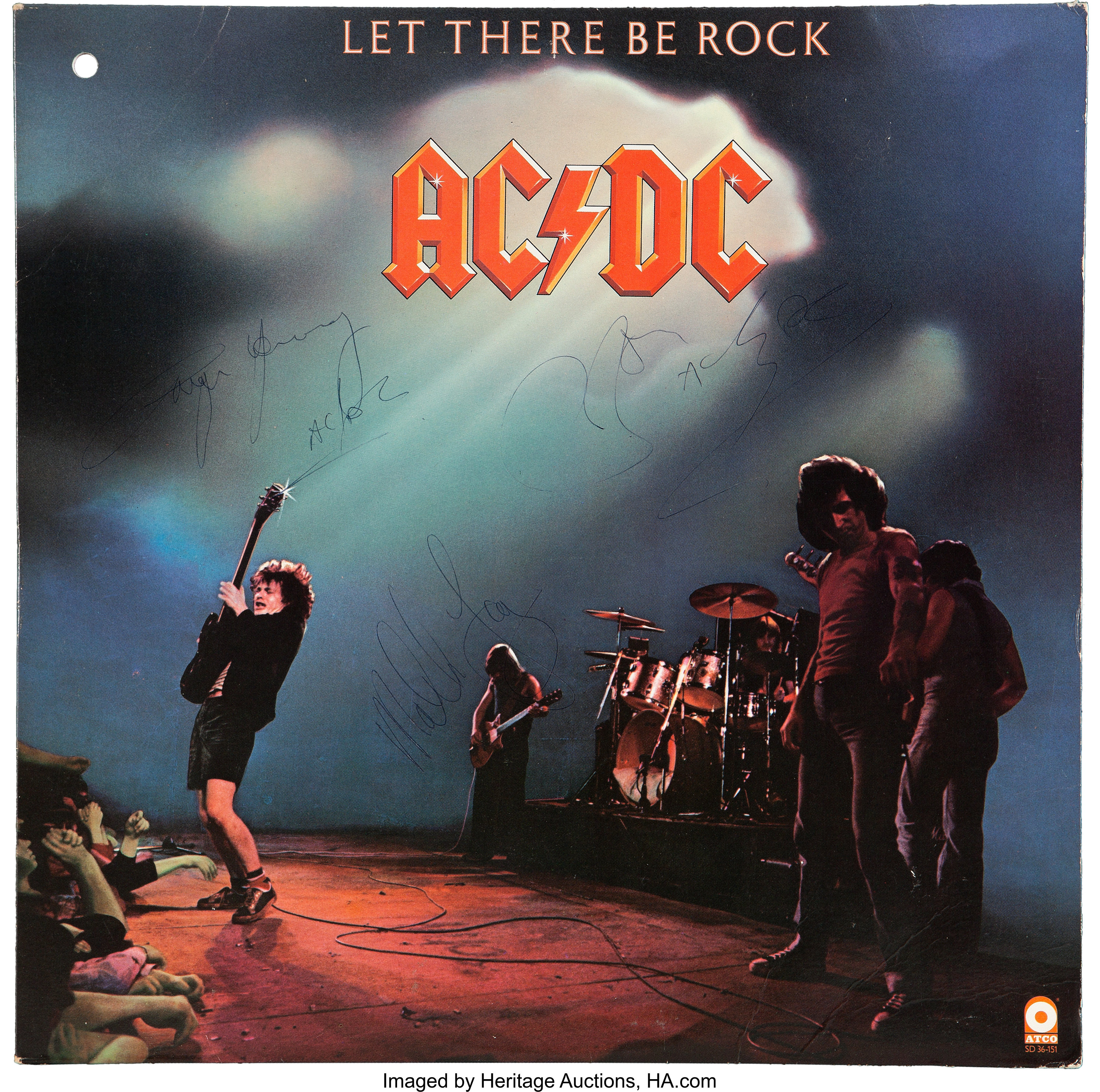 AC//DC Let There Be Rock concert movie poster canvas print AC DC