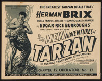 "The New Adventures of Tarzan (Burroughs-Tarzan-Enterprise, 1935). Title Lobby Card (11"" X 14"") Chapter 12 -- &..."