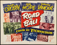 "Road to Bali (Paramount, 1952). Half Sheet (22"" X 28""). Comedy"