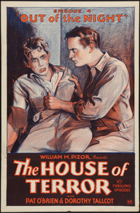 """The House of Terror (William M. Pizor, 1928). One Sheet (27"""" X 41"""") Episode 4 -- """"Out of the Night.""""..."""