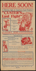 """Movie Posters:Western, Custer's Last Fight (Quality Amusement, R-1925). Herald (9"""" X 18"""") DS Advance. Western.. ..."""