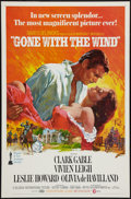 "Movie Posters:Academy Award Winners, Gone with the Wind (MGM, R-1968). One Sheet (27"" X 41"") FlatFolded. Academy Award Winners.. ..."